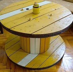 13 #DIY Cable Spool Table & Ideas | DIY to Make