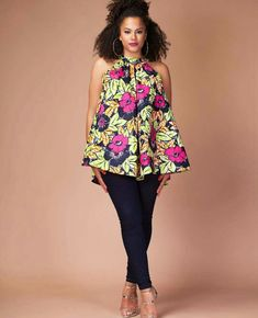 Ladies Ankara Tops For Jeans, ankara top styles with Jean shorts, ankara too with Jean trousers, perfect Ankara tops design for ladies, hot Ankara styles for jeans to match African Fashion Designers, African Fashion Ankara, Ghanaian Fashion, Latest African Fashion Dresses, African Dresses For Women, African Print Dresses, African Print Fashion, Africa Fashion, African Attire