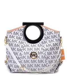 Michael Kors Handbags Sale Leather Clutches Signature White