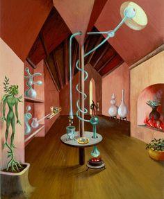Laboratory by Remedios Varo Giclee Canvas Print Repro Acid Trip Art, Illustrations, Illustration Art, Food Grade Essential Oils, Hans Richter, Soul Art, Giacometti, Surreal Art, Beautiful Paintings
