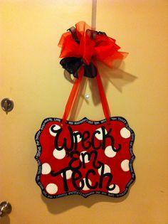 Texas Tech door hanger!  www.passionatelypink.etsy.com