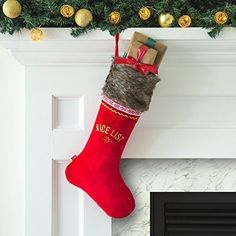 Portable North Pole Deluxe Christmas Stocking with Personalized Video Message for sale online North Pole, Xmas Gifts, Christmas Stockings, Luxury, Holiday Decor, Bag, Needlepoint Christmas Stockings, Christmas Presents, Arctic