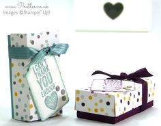 Mini Pretty Box Tutorial using Stampin' Up! Moonlight DSP Stack