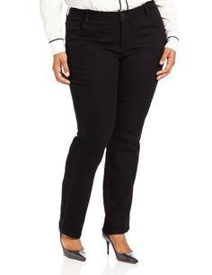 f0f84a09fc64a Lee Womens PlusSize Classic Fit Monroe Straight Leg Jean Black 20W Medium      You