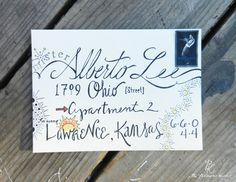 Custom Calligraphy For Envelopes: Random Font - Wedding Calligraphy - Parties - Events. $3.75, via Etsy.