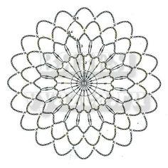Motif № TWO - easy variant Crochet Snowflake Pattern, Crochet Motifs, Crochet Snowflakes, Crochet Shawl, Lace Doilies, Crochet Doilies, Crochet Lace, Crochet Round, Irish Crochet