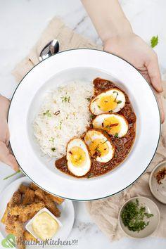 Egg Curry #curry #egg #indianrecipe #dinner #dinnerrecipe #coconutmilk #redcurrypaste #garammasala #rice | Healthy Kitchen 101