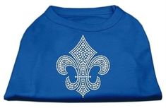 Mirage Pet Products Silver Fleur De Lis Rhinestone Pet Shirts * Click image to review more details. (This is an affiliate link and I receive a commission for the sales)