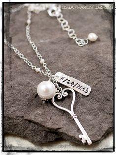 Bridal necklace for my sweet friend Jacki 3  www.lissaharlindesigns.com