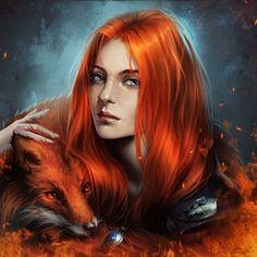 Fox orange hair
