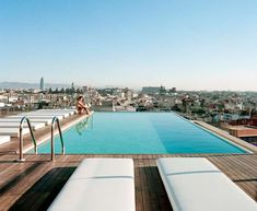 Magestic Mountain-Top Infinity Pools - The Barcelona Grand Hotel Central Pool Overlooks the City (GALLERY)