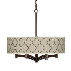 Tangier Taupe Ava 6-Light Bronze Pendant Chandelier - #X9844-5D202   LampsPlus.com