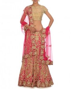 Fuchsia Lehenga Set by exclusively in $1859.00 2014.  Bridal lehenga Bridal Lengha, Indian wedding clothes