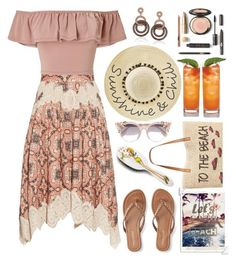 """let's go to the beach"" by katymill ❤ liked on Polyvore featuring Zimmermann, Style & Co., Aéropostale, Miss Selfridge, Jimmy Choo, Suzy Levian, Betsey Johnson, Graham & Brown, Rock & Ruddle and islandgetaway"