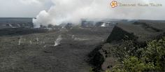 KILAUEA CRATER (Big Island) — Kilauea Crater Overlook lets you witness one of the world's most active volcanoes at Hawaii Volcanoes National Park. The Kilauea Caldera itself is about 2 miles long and 3 miles wide.