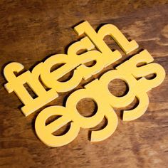 fresh eggs handmade wood sign - wall decoration for vintage or modern kitchen or farmhouse decor. $68.00, via Etsy.