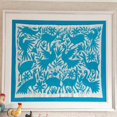 Otomi Hand Embroidered Tenango Large Rectangles