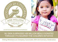 Resultado de imagem para nourish the children Galvanic Spa, Hungry Children, World Hunger, Programming For Kids, Thigh Exercises, 30th Anniversary, Charity, Nu Skin, Messages