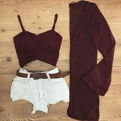 Cute Summer Outfits, Short Outfits, Stylish Outfits, Spring Outfits, Girl Outfits, Cute Outfits, Fashion Outfits, Womens Fashion, Festival Outfits