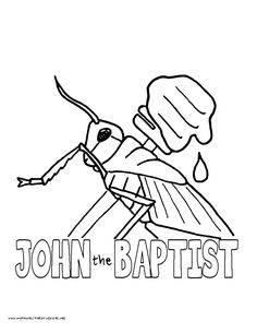 World History Coloring Pages Printables John The Baptist