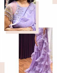 Saree Jacket Designs, Sari Blouse Designs, Designer Blouse Patterns, Bridal Blouse Designs, Lehenga Designs, Designer Gowns, Indian Designer Wear, Designer Sarees, Saree Dress