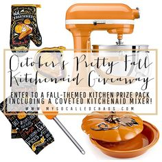 LAST DAY to enter the big Kitchenaid Mixer giveaway!  http://mysocalledchaos.com/2016/10/octobers-big-kitchenaid-mixer-giveaway.html