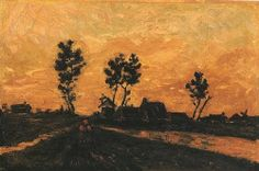 Van Gogh, Landscape at Sunset, April 1885.