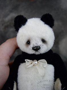 """Mulan, 6"""" Alpaca Panda by Aerlinn Bears"""