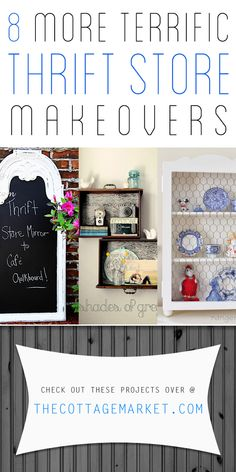 8 More Terrific DIY Thrift Store Makeovers - The Cottage Market #ThriftStoreMakeovers, #ThriftStoreMakeover, #ThriftStoreDIYProjects, #Upcycled, #Upcycling
