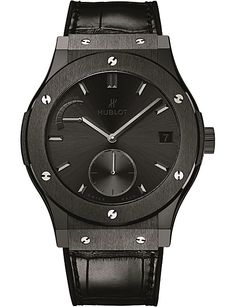 HUBLOT 516.CM.1440.LR Classic Fusion ceramic leather strap manual watch