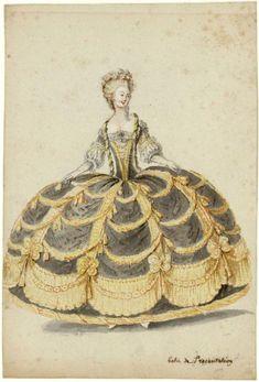 Robe de cour, 1788, Les Arts Decoratifs