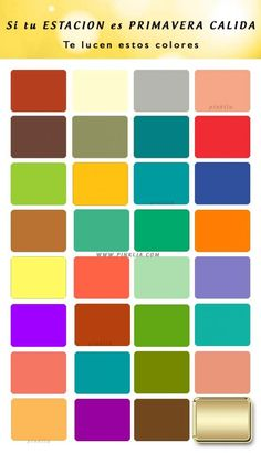 Colores: Estación primavera cálida