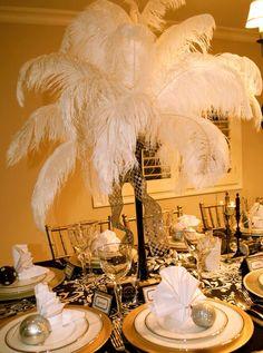 Tall Center piece for Great Gatsby & Speakeasy Decor on Pinterest | Murder Mystery Theater | Pinterest ...