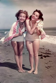 Jane Powell & Elizabeth Taylor. Love this! Jane played Milly is Seven Brides for Seven Brothers, the best ever movie!