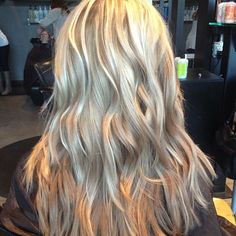Blonde Balayage with pearl toned lowlights