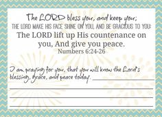 Printable praying Scripture cards!