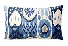 Kachina Ikat 12x20 Pillow, Blue on OneKingsLane.com