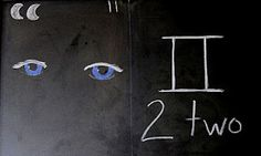Waldorf ~ 1st grade ~ Math ~ Quality of Numbers: Two is the Prince when he finds his love ~ chalkboard drawing