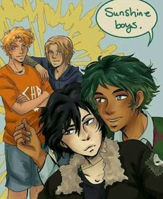 Heroes of Olympus/Magnus Chase Crossover Comic, Will Solace and Magnus Chase, Nico di Angelo and Alex Fierro, Solangelo and Fierrochase Percy Jackson Fandom, Percy Jackson Crossover, Arte Percy Jackson, Percy Jackson Ships, Percy Jackson Characters, Percy Jackson Memes, Will Solace, Rick Riordan Series, Rick Riordan Books