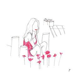 FLOWER BY KENZO Bon dimanche ! #parissouslescoquelicots #illustration #drawing