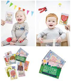 Milestone Baby Cards. Leuk fotografie idee.