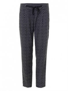 Polka-dots are ALWAYS a do // Weekend Max Mara Ada Trousers in Navy/White