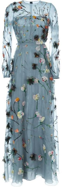 Valentino floral applique evening dress http://www.shopstyle.com/browse/women/Farfetch-US?pid=uid8721-33958689-52
