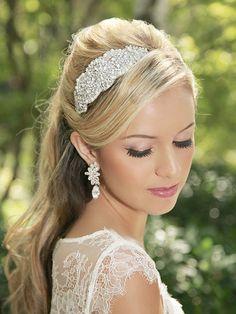 Pearl hair clip Pearl Hair Piece Bridal Pearl by GildedShadows