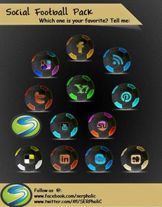 Enjoy some unique Social Media Icons.  Have a look at these icons, & tell us which one is your favorite?  Please reply in the response of the pic...