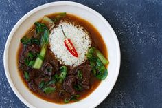 These Slow Cooked Chinese Five Spice Beef Cheeks are so tender. Once you make the sauce in the Thermomix you then transfer to a slow cooker. Meat Recipes, Asian Recipes, Whole Food Recipes, Healthy Recipes, Asian Foods, Healthy Dinners, Yummy Recipes, Ginger Beef, Thermomix