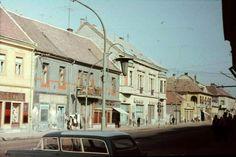 Veszprém, Kossuth street in the Hungary, 1960s, Street View, Sixties Fashion