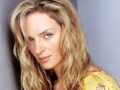 Uma Thurman. I found some lovely yellows on her. Again, a touch brighter colour on the lips would be great.