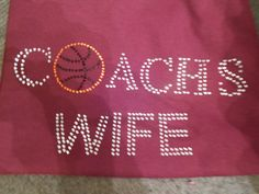 Hey, I found this really awesome Etsy listing at http://www.etsy.com/listing/163756769/coachs-wife-tee