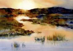by Susan Crouch! The textures really evoke a misty morning, as the sun rises over lowland marshes. http://www.susancrouch.com